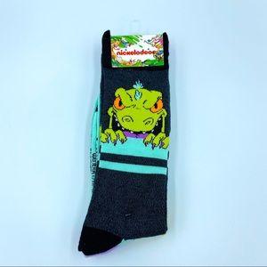 New Men's Nickelodeon Rugrats Reptar Crew Socks